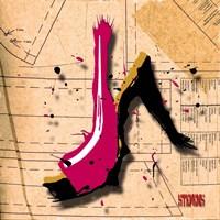 Suede Heel Pink Fine Art Print