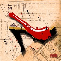 Suede Heel Red Fine Art Print