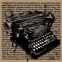Three-Quarter Typewriter Fine Art Print