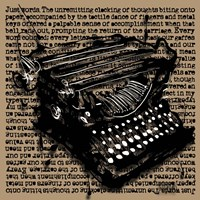 Three-Quarter Typewriter Fine Art Print