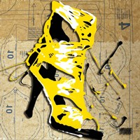 Yellow Strap Boot Fine Art Print