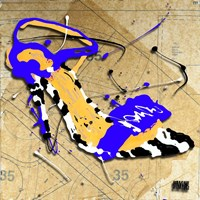 Zebra Heel Blue Fine Art Print
