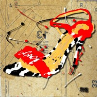Zebra Heel Red Fine Art Print