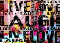 Live Love Laugh Landscape Fine Art Print