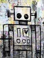 Boy Robot Color Fine Art Print