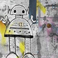 Girly Grunge Robot Fine Art Print
