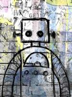 Graffiti Robot Color Fine Art Print