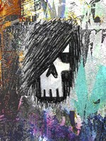 Graffiti Sketch Skull Fine Art Print