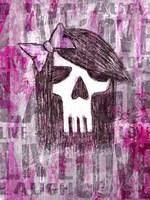 Pink Skull Princess Fine Art Print