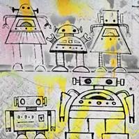 Robot Family Fine Art Print