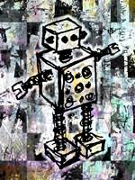 Sketched Robot Color Fine Art Print