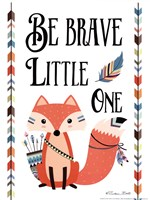 Be Brave Little One Framed Print