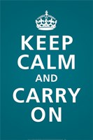 Keep Calm (Teal) Fine Art Print
