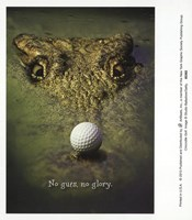 Crocodile Golf Framed Print