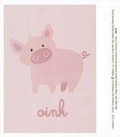 Barn Baby Oink Fine Art Print