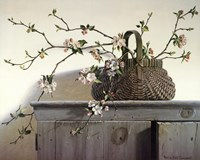 Ray Hendershot Just Picked Still Life Fruit Basket Apple Print Poster 19x13
