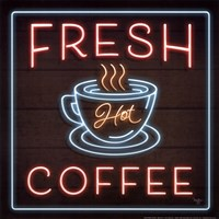 Neon Fresh Coffee Fine Art Print