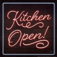 Neon Kitchen Open Fine Art Print