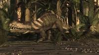 A Large Prestosuchus Moves Through The Brush Fine Art Print