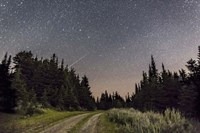 Meteor and Big Dipper, Mount Kobau, Canada Fine Art Print