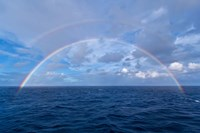 Double rainbow over the Atlantic Ocean Fine Art Print