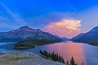 Sunset at Waterton Lakes National Park, Alberta, Canada Fine Art Print