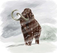 Mammuthus Primigenius walking through a Blizzard Fine Art Print