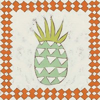 Pineapple Vacation I Framed Print