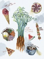 Food Sketches I Fine Art Print