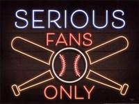 Neon Baseball Fans Fine Art Print
