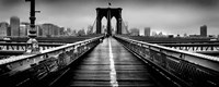 Fog over the Brooklyn Bridge, Brooklyn, Manhattan, NY Fine Art Print