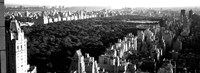High angle view of buildings in a city, Central Park, Manhattan, NY Fine Art Print