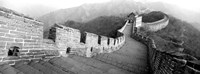 Great Wall Of China, Mutianyu, China BW Framed Print
