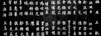Close-up of Chinese ideograms, Beijing, China BW Framed Print