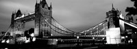 Tower Bridge, London, United Kingdom (black & white) Fine Art Print