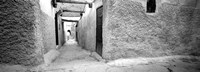Medina Old Town, Marrakech, Morocco (black & white) Fine Art Print