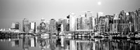 Vancouver, British Columbia, Canada (black & white) Fine Art Print