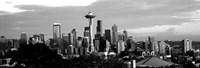 City viewed from Queen Anne Hill, Space Needle, Seattle, Washington State Fine Art Print