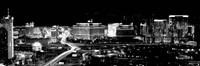 City lit up at night, Las Vegas, Nevada Fine Art Print