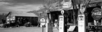 Store with a gas station on the roadside, Route 66, Hackenberry, Arizona Fine Art Print