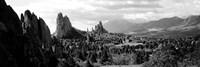 Garden of The Gods, Colorado Springs, Colorado (black & white) Fine Art Print