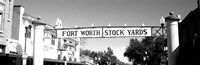 Signboard over a street, Fort Worth Stockyards, Fort Worth, Texas Fine Art Print