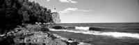 Lighthouse on a cliff, Split Rock Lighthouse, Lake Superior, Minnesota Fine Art Print