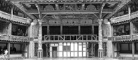Interiors of a stage theater, Globe Theatre, London, England BW Fine Art Print