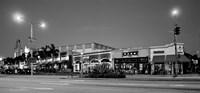 Night scene of Downtown Culver City, Culver City, Los Angeles County, California Fine Art Print