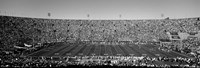 Football stadium full of spectators, Los Angeles Memorial Coliseum, California Fine Art Print