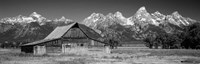 Old barn on a landscape, Grand Teton National Park, Wyoming Framed Print