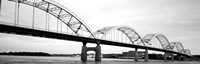 Iowa, Davenport, Centennial Bridge over Mississippi River Fine Art Print