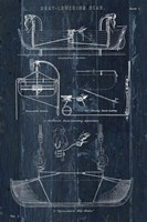 Boat Launching Blueprint I Framed Print