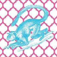 Bright Menagerie Monkey Framed Print